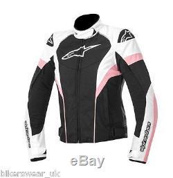Alpinestars Stella Ladies Femme Textile T-gp Plus R Veste De Vélo Noir / Blanc / Rose