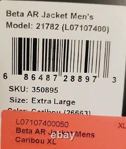 Arc'teryx Homme Beta Ar Pro Gore-tex Jacket Caribou XL Nouveau