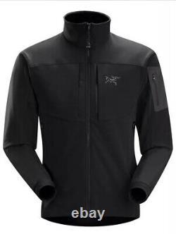 Arc'teryx Homme Gamma MX Blackbird Black Softshell Full Zip Jacket Sz M Arcteryx