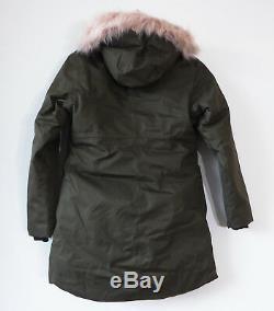 Arctic North Face Fille Tourbillon 550 Veste Parka Nouveau Vert M 10-12 Taupe