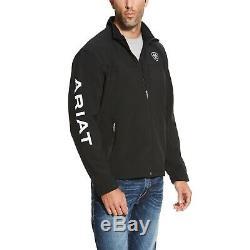 Ariat Nouvelle Équipe Hommes Noir Softshell Plein Zip Jacket 10019279
