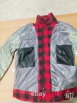 Australian Bikers Gear Motorcycle Flannel Shirt Doublé De Kevlar Et Ce Armoure