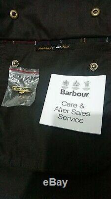 Authentique Barbour Ashby Wax Jacket Olive Medium Imperméable Nouveauté Homme Femme Prix De Vente Conseillé £ 199
