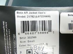 Avec Des Étiquettes Arc'teryx Beta Ar Neptune Jacket = Hommes Small
