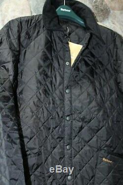 Barbour Heritage Liddesdale Veste Matelassée Manteau Noir Mqu0001bk91 Tn-o Nouveau