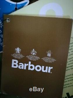 Barbour International Mesdames Vert Veste Taille 14/16 Imperméable Et Respirant