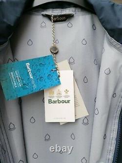 Bbwt Barbour Womens Fourwinds Imperméable À L'eau Veste Bleu Marine Uk10 12 14 Rrp 169