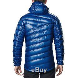 Berghaus Hommes Ramche Micro Down Jacket Top Bleu Sport Plein Air Chaud À Capuchon
