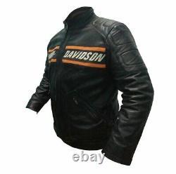 Bill Goldberg Harley Davidson Biker Veste En Cuir