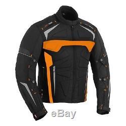 Blouson Blindé De La Ce De Textile Imperméable De Moto Avec Le Gant En Cuir De Moto 100%