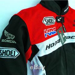 Blouson Moto Racing Été Automne Mride Coupe-vent Protecteur Pour Honda Mesh