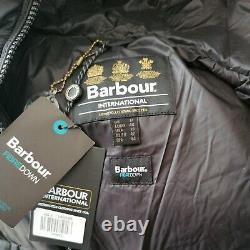 Bnwt Femmes Barbour International Lydden Veste Matelassée Noir Uk12 14 16 Rrp£189
