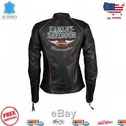 Brand New Harley Davidson Réel Mesdames Veste Cuir Véritable Nouvelle Mode Us Stock