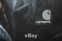 Carhartt Mens Ketchikan Veste Imperméable En Coton Respirant Toile Noire 3xl Capuche