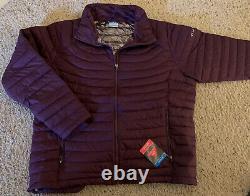 Columbia Femmes Plus Taille 3xl Omni Heat Purple Nouveau Manteau Hiver 3x Veste Puffy