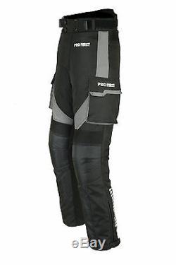 Costume Imperméable Moto Moto Veste Pantalon Cordura Textile Armure Gris