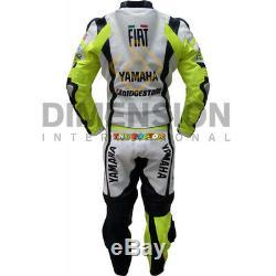 Costume Moto Gp Valentino Rossi Vr 46 Yamaha Fiat Cuir Cuir Racing