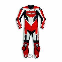 Costume Rtx Moto Ducati Corse En Cuir De Vachette Ce Armour Moto Taille Motogp