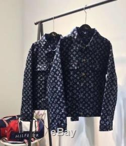 Cowboy Slim Jacket De Manteaux Monogram Overshirt Des Femmes 19ss Nouvelle Broderie Hommes