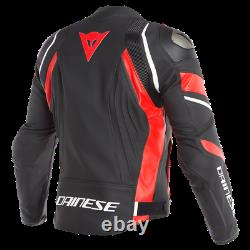 Dainese Avro 4 Leather Jacket Black Yellow Leather Sport Motorcycle Jacket Nouveau