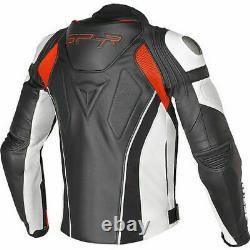Dainese Super Speed-r Leather Jacket Moto Noir Rouge Blanc