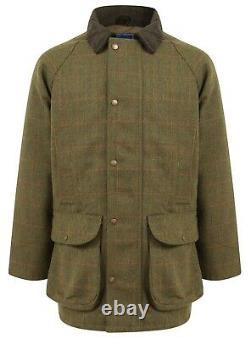 Derby Tweed Jacket Mens Homme Imperméable Hunting Tir De Chasse Pêche Chaleureuse Nouveau