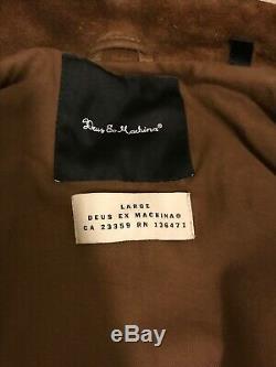 Deus Ex Machina Blouson En Cuir Daim Tan Taille Large