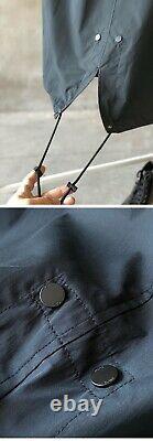 Dior Et Shawn Hooded Parka Jacket Raincoat Black Size 46/medium
