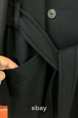Double-karen Millen Boutonnage Belted Wrap Manteau D'hiver Chaud Veste En Noir Intelligent