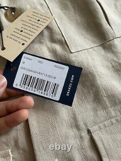 Drakes London 5 Pocket Chore Veste Sur-shirt Shacket Linge Taille Small