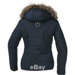 Ekkia Veste Matelassée Equi-theme Avec Capuche, Manteau D'hiver Pour Femme, Imperméable
