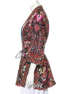 Etro Veste Ouverte À Imprimé Floral Et Motif Paisley Avec Ceinture À Pampilles Taille It42 Us6 (pdsf) 2 065 $