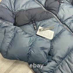 Femmes Nike Down Fill Parka Long Jackets Navy Blue Puffer Taille Petit Ah8694-475