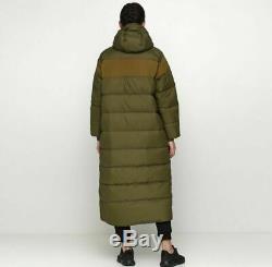 Femmes Nike En Duvet Long Manteau Parka Taille M / L (ah8694 395) Veste En Toile Olive