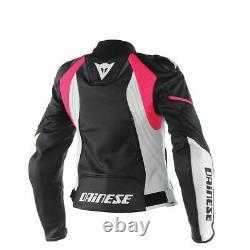 Femmes/lads New Motocycle Leather Racing Jacket Bikers Veste Motogp