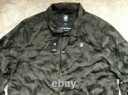 G-star Raw Asfalt / Black Hedrove Coach Camo Zip Jacket Coat XL Nouveau & Tags