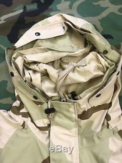 Gore-tex Veste Camo Parka Temps Froid Camouflage Désert Nsn 8415-01-470-1954