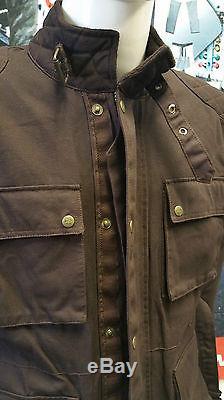 Guerrier Marron En Cire De Coton De Coton Wp Doublé Body Armour Moto Blousons