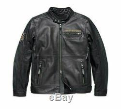 Harley Davidson 115e Anniversaire Eagle Hommes B & S Véritable Buffalo Veste En Cuir