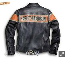 Harley Davidson Biker Victoria Lane Style Vache Véritable Veste En Cuir