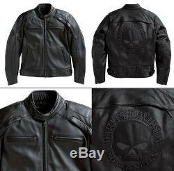 Harley Davidson Réfléchissant Willie G Skull Homme Veste En Cuir 98099-07vm 2xl