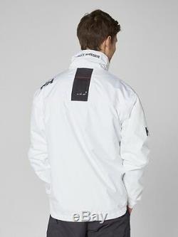 Helly Hansen Crew Midlayer Veste Imperméable Doublée En Polaire 30253/001 Blanc Nouveau