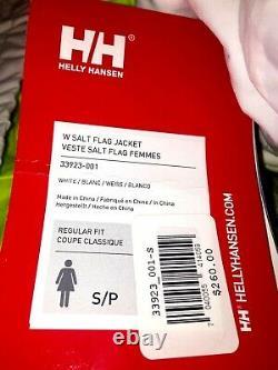 Helly Hansen Femme W Salt Flag Jacket 33923-001 Waterproof Windproof White New