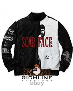 Homme Scarface Al Pacino Tony Montana Veste - Meilleures Ventes De L'année Nouvel Arrivage