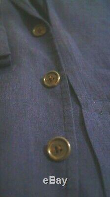 Hommes Polo Ralph Lauren Marine Lin Blazer Bleu / Veste De Taille Moyenne. 40r