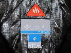 Hommes S M L XL Columbia Veste Longue Isolée Titanium Heatzone 1000