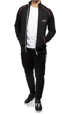 Hugo Boss Sport Survêtement Hommes Zip Up Sweatshirt Veste Et Pantalon Noir Set