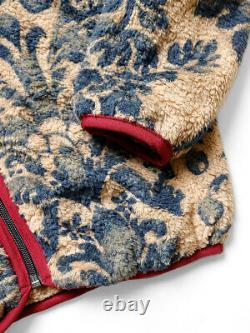 Kapital Damask Toison Légère Zip Up Blouson Beige Poids Léger Rare Limited