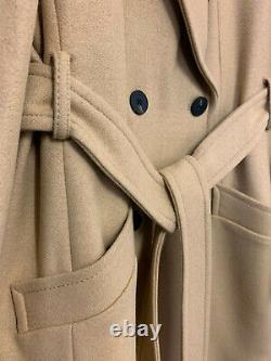 Karen Millen Veste À Gaine Ceinturée À Double Bras D'hiver En Manteau Chaud Smart En Camel