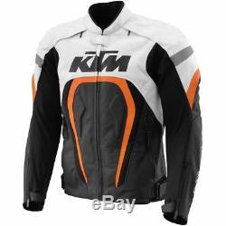 Ktm Power Wear Veste En Cuir Moto Ktm Veste En Cuir Ktm Motogp Toutes Tailles